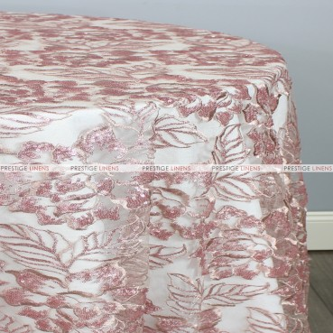 ENCHANTED SEQUINS TABLE LINEN - DUSTY ROSE