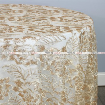 ENCHANTED SEQUINS TABLE LINEN - GOLD