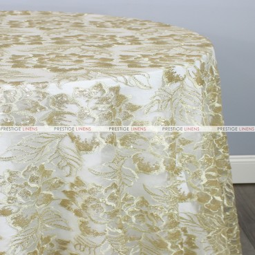 ENCHANTED SEQUINS TABLE LINEN - IVORY/GOLD