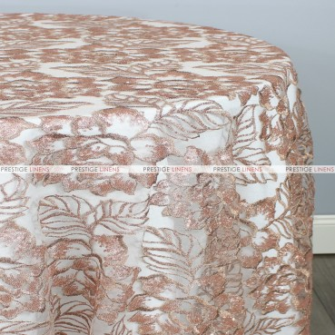 ENCHANTED SEQUINS TABLE LINEN - ROSE/GOLD