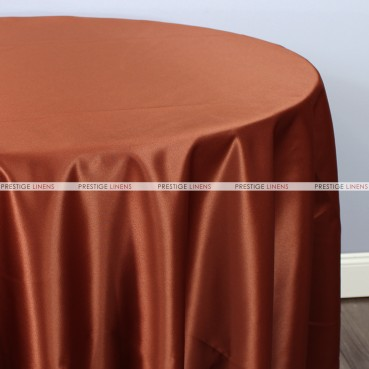 Lamour Matte Satin Table Linen - 344 M Rust