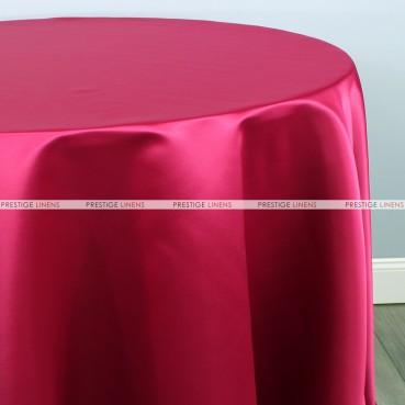 Lamour Matte Satin Table Linen - 556 Dk Fuchsia