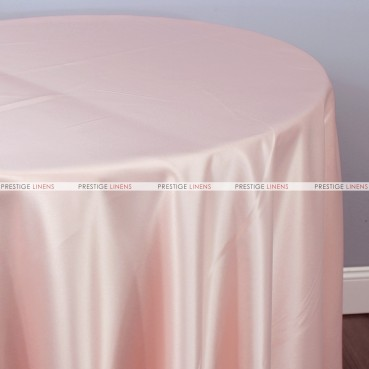 Lamour Matte Satin Table Linen - 567 Blush Pink