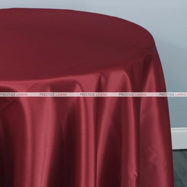 Lamour Matte Satin Table Linen - 628 Burgundy