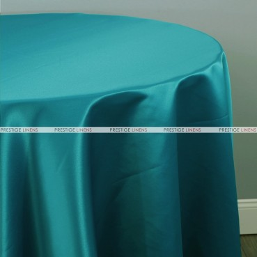 Lamour Matte Satin Table Linen - 764 Lt Teal