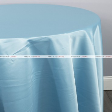 Lamour Matte Satin Table Linen - 926 Baby Blue