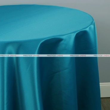 Lamour Matte Satin Table Linen - 938 Dk Aqua