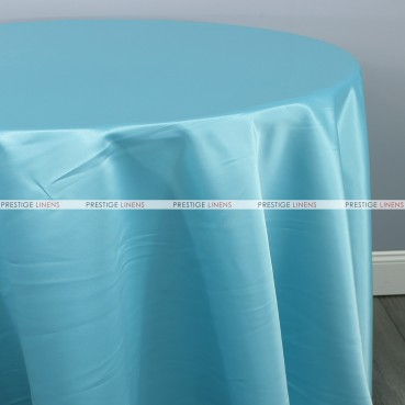 Lamour Matte Satin Table Linen - 951 Tiffani Blue