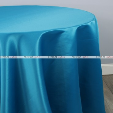 Lamour Matte Satin Table Linen - 958 Peacock Blue