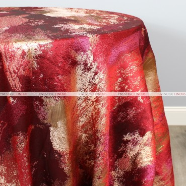 BRUSHSTROKE TABLE LINEN - RED