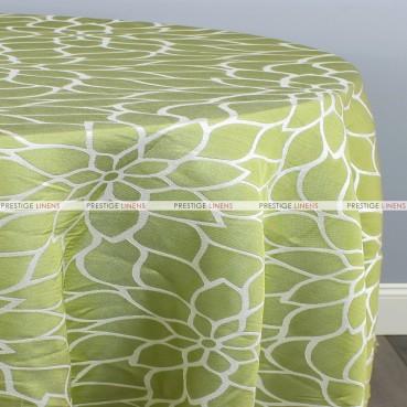 DAISY JACQUARD TABLE LINEN - GREEN
