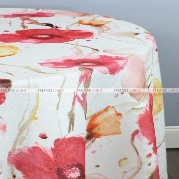 BOTANICAL TABLE LINEN - CORAL YELLOW