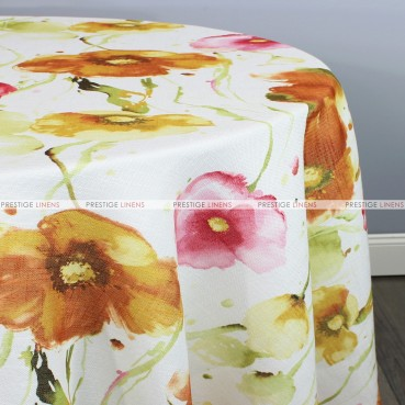 BOTANICAL TABLE LINEN - ORANGE PINK