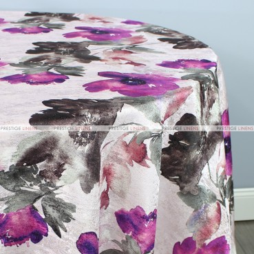 Aster Table Linen - Plum