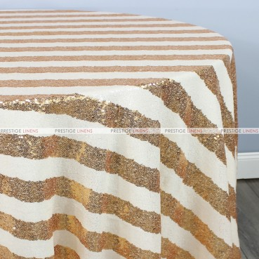 Striped Glitz Table Linen - Gold Ivory