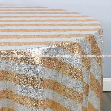 Striped Glitz Table Linen - Gold Silver