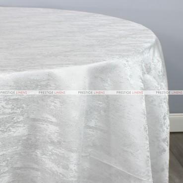 Stardust Table Linen - White Silver