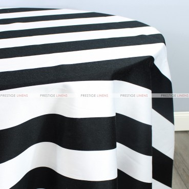 BUNGALOW TABLE LINEN - 3.5 INCH - BLACK