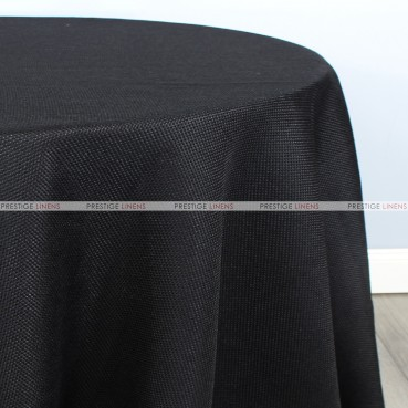 Jute Linen Table Linen - Black