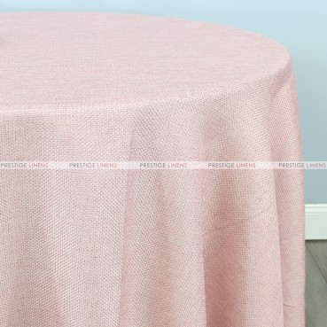 Jute Linen Table Linen - Blush