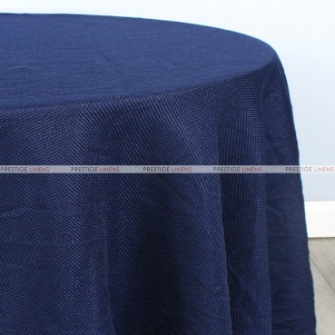 Jute Linen Table Linen - Navy
