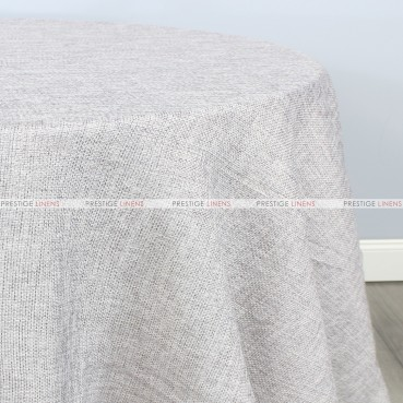 Jute Linen Table Linen - Light Silver