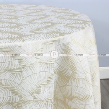 FERN TABLE LINEN - CHAMPAGNE