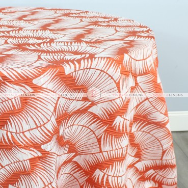 FERN TABLE LINEN - MANDARIN