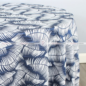 FERN TABLE LINEN - NAVY