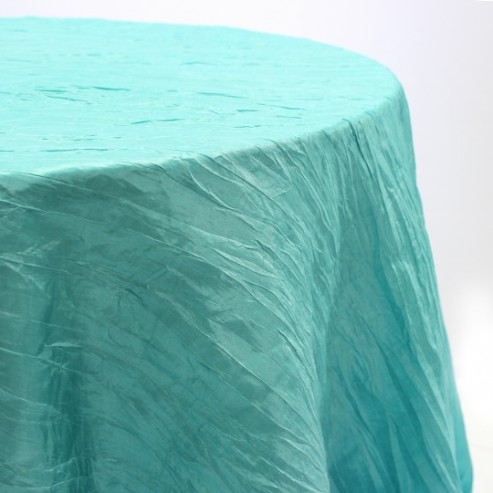 Crushed Taffeta Table Linen - 951 Tiffani Blue