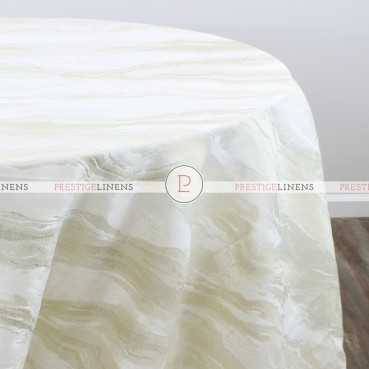 EVENING SKY TABLE LINEN - WHITE/GOLD