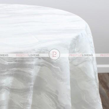 EVENING SKY TABLE LINEN - WHITE/SILVER