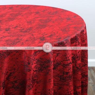 CRYSTAL VELVET TABLE LINEN - RED