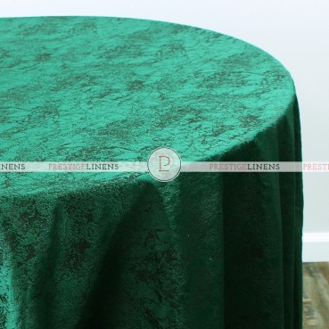 CRYSTAL VELVET TABLE LINEN - EMERALD