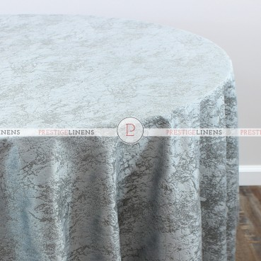 CRYSTAL VELVET TABLE LINEN - GREY