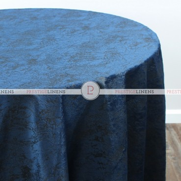 CRYSTAL VELVET TABLE LINEN - NAVY
