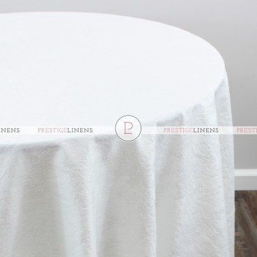 CRYSTAL VELVET TABLE LINEN - WHITE