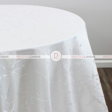ARCTIC JACQUARD TABLE LINEN - WHITE