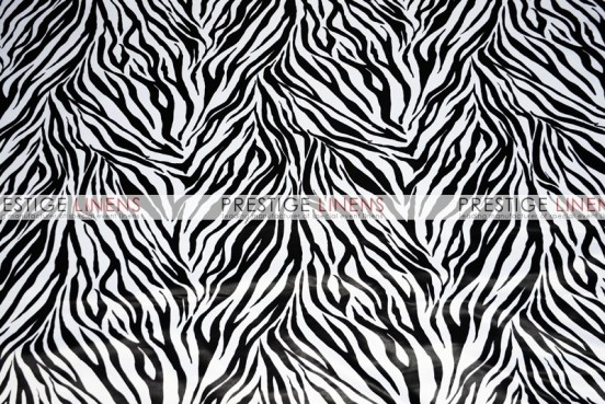Zebra Print Lamour Draping - White