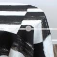 A LA MODE TABLE LINEN - BLACK WHITE