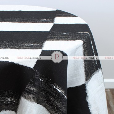 A LA MODE TABLE LINEN - BLACK WHITE