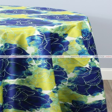 Dahlia Table Linen - Royal