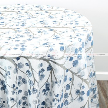 CHERRY BLOSSOM TABLE LINEN - SKY BLUE