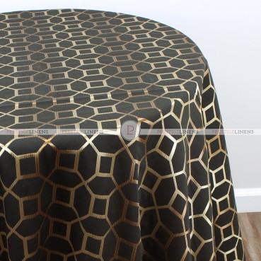 OCTAVE TABLE LINEN - GOLD BLACK