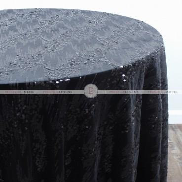 ORNATE TABLE LINEN - BLACK