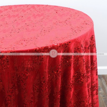 ORNATE TABLE LINEN - RED