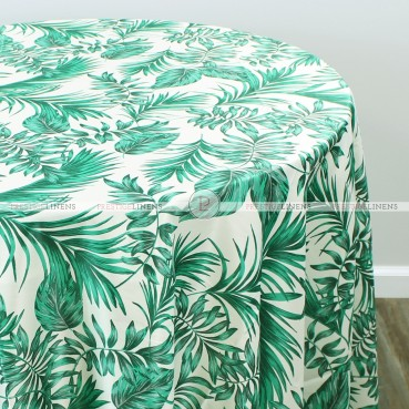 TROPICAL PARADISE TABLE LINEN - CHAMPAGNE GREEN