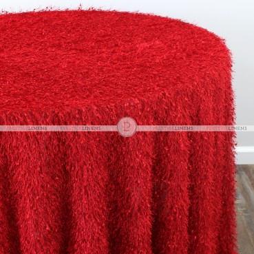 MINKY TABLE LINEN - RED
