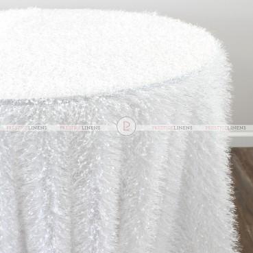 MINKY TABLE LINEN - WHITE