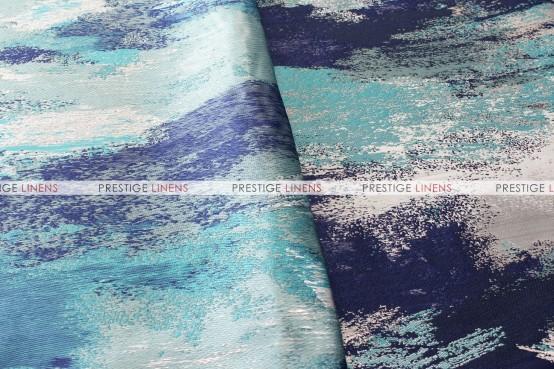 Brushstroke Napkin - Silver Blue